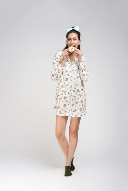 Shadow Floral Print Sleepshirt