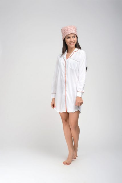 White Shadow Stripe Sleepshirt