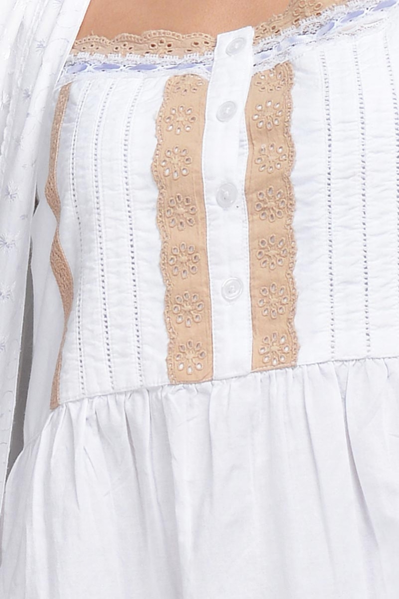 Brown Lace Emb Detail Nightdress