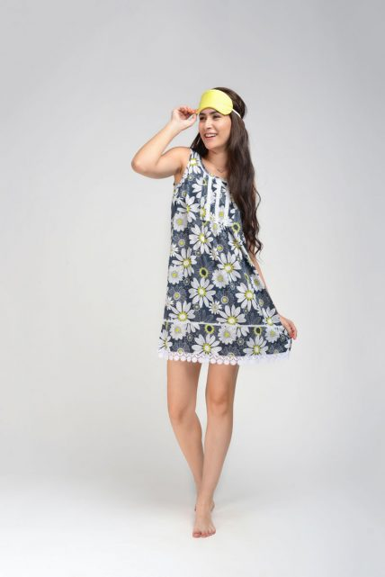 Cotton Lurex Daisy Night Dress