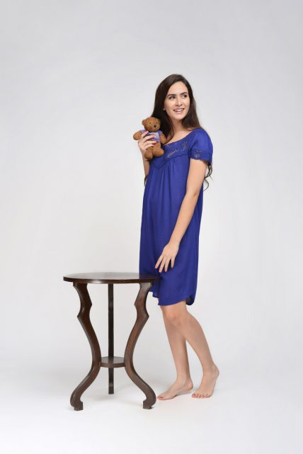 Navy Rayon Nightdress