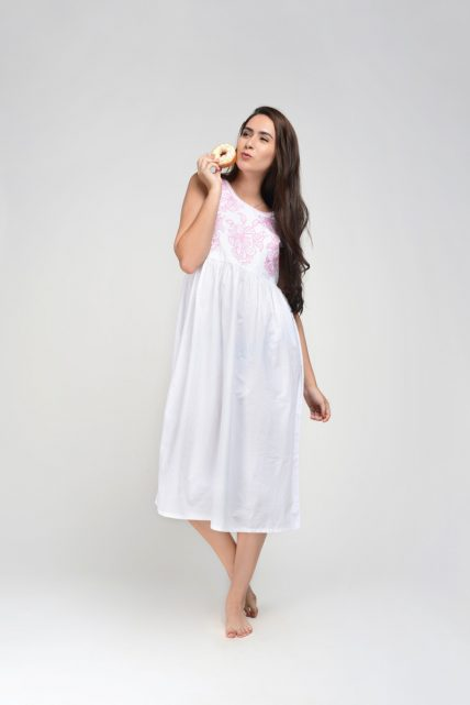 Pink Emb Detail Nightgown