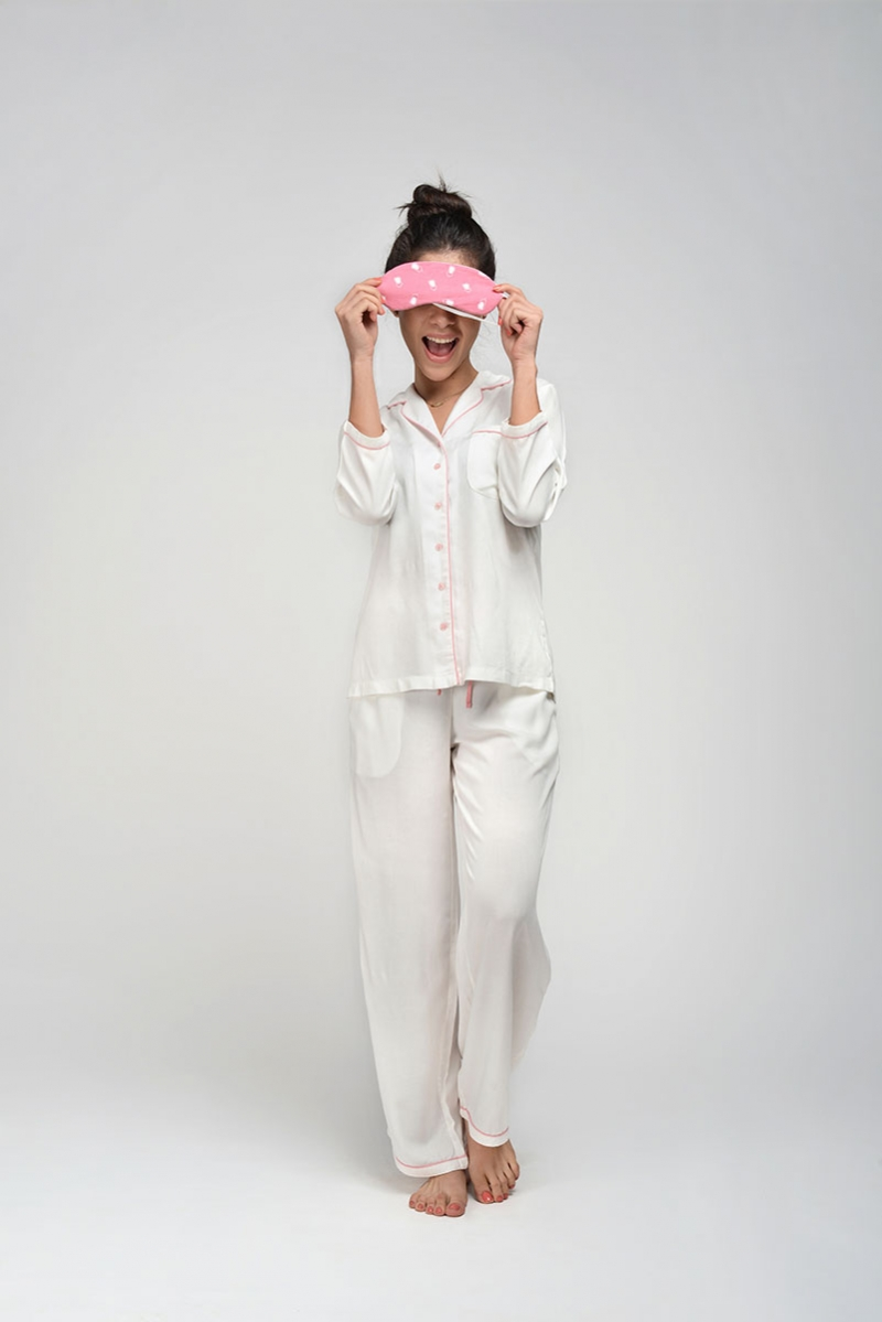 Solid White Rayon