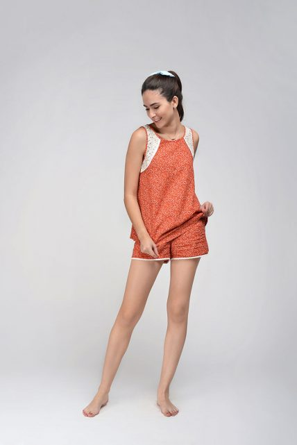 Cotton Crape Orange