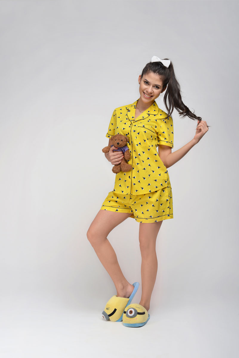 G Yellow Birdy Shorty Set Girl Child (age 6 years- 14 years)