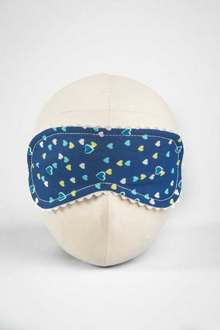 Beating Hearts Print Eye Mask