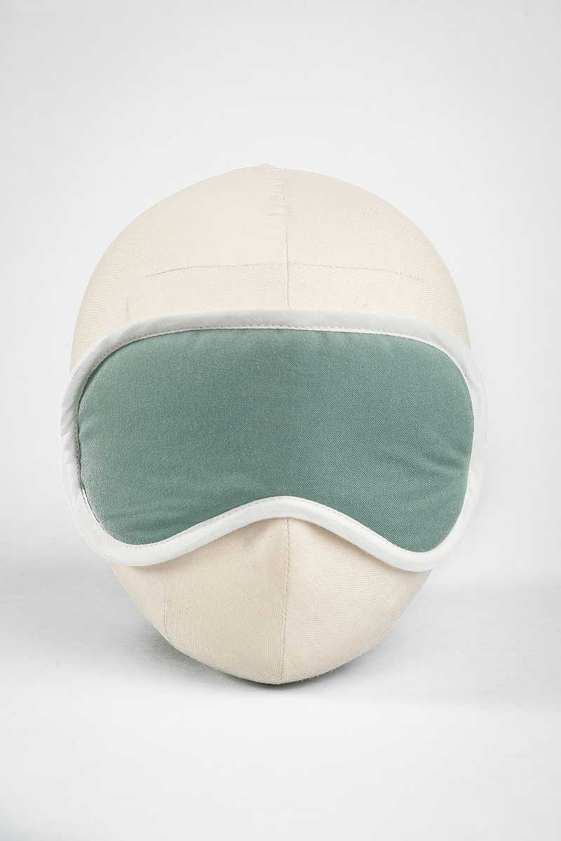 Jade Sea Solid Eye Mask