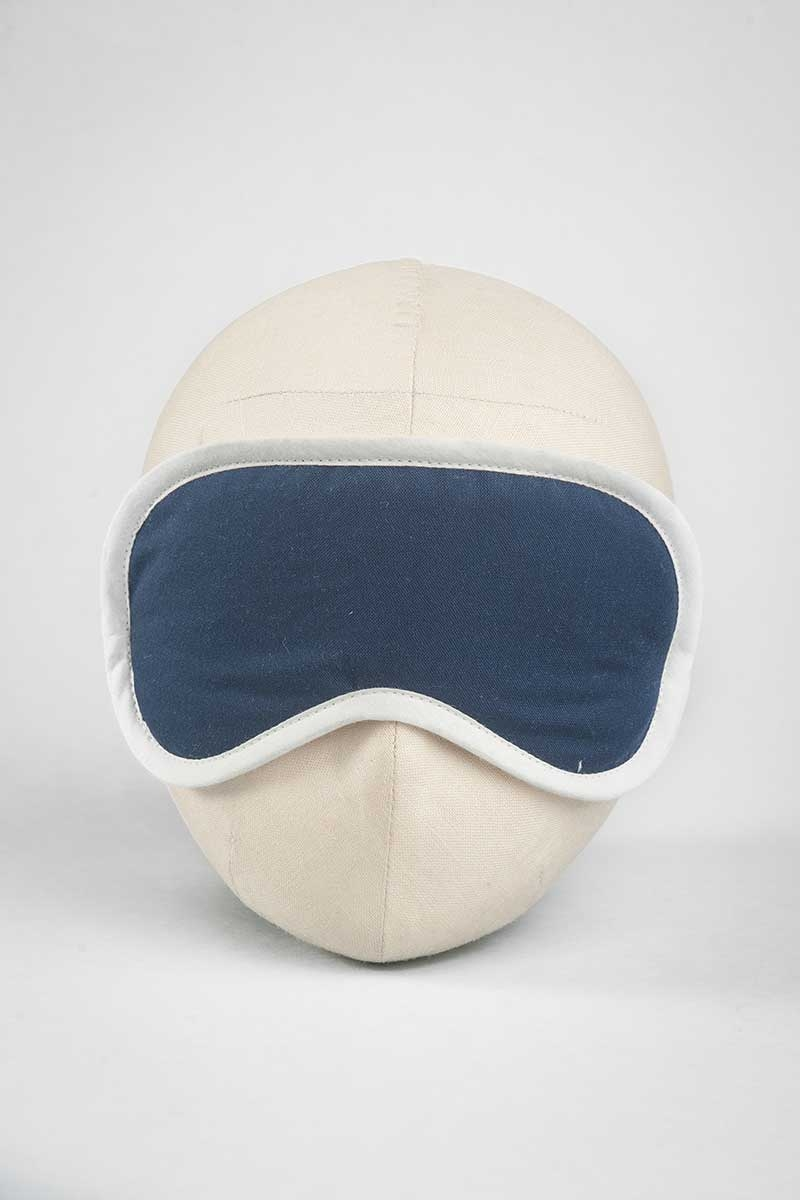 Midnight Blue Solid Eye Mask