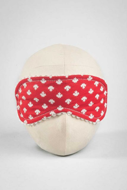 Maple Leaf Print Eye Mask