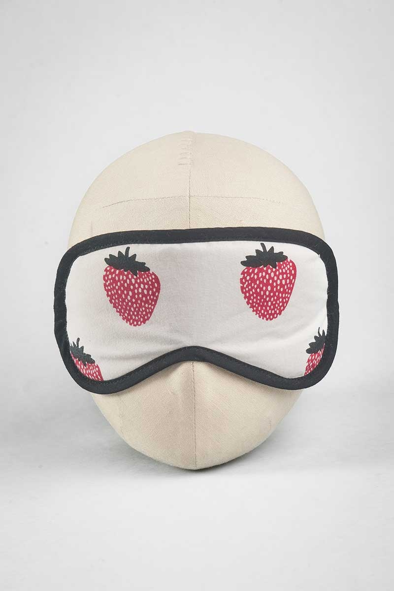 Strawberry Cream Print Eye Mask