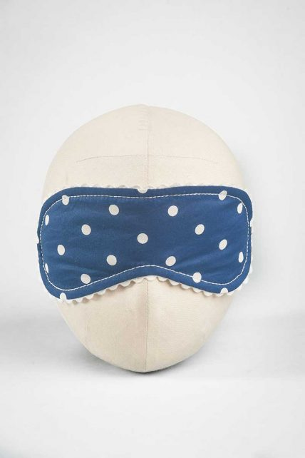 White Polka Dot Eye Mask