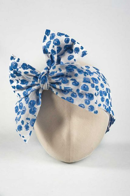 Blue Orchids Head Wrap