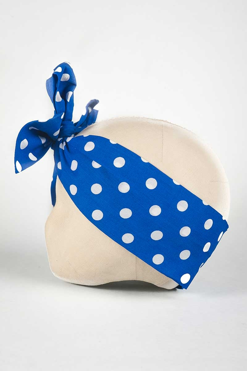 Blue Retro Head Wrap