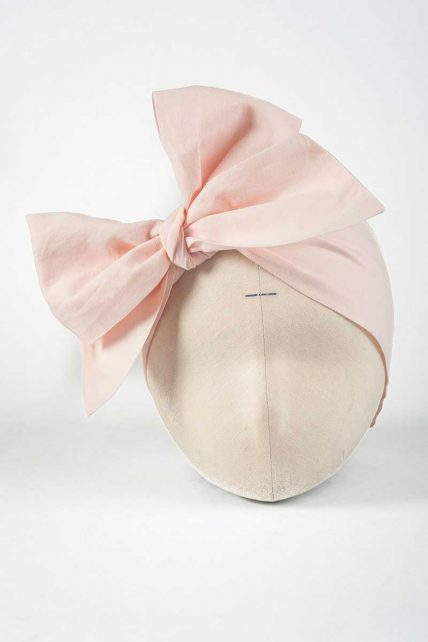 Peach Color Solid Head Wrap