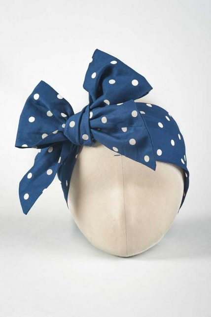 White Polka Dot Head Wrap